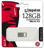Kingston DataTraveler micro 128GB USB3.1 A Ezüst Flash Drive