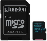 Kingston Canvas Go 128GB MicroSDXC C10 memóriakártya adapterrel