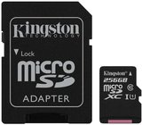Kingston Canvas Select 256GB MicroSDXC C10 memóriakártya adapterrel