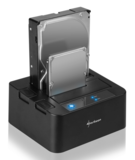 "Sharkoon QuickPort Duo USB3.0 v2 2x2,5""-3,5"" Sata HDD dokkoló"